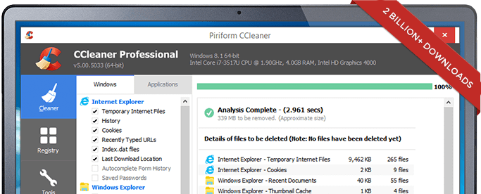 Clean up with CCleaner!